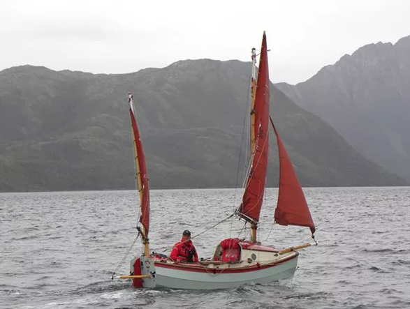 Howard Rice's dinghy for his Cape Horn expedition.
