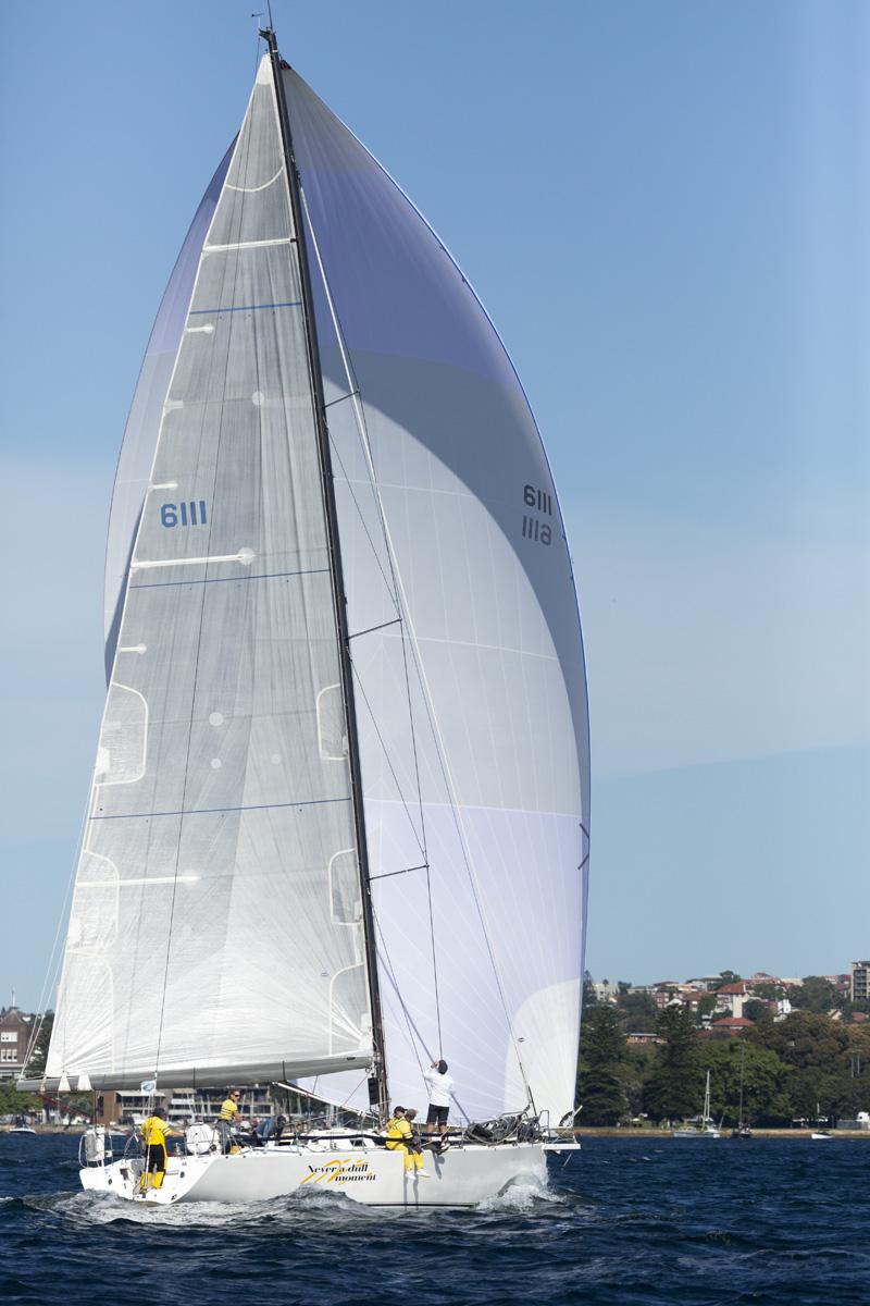 Never A Dull Moment in fine form. Photo David Brogan/www.sailpix.com.au.