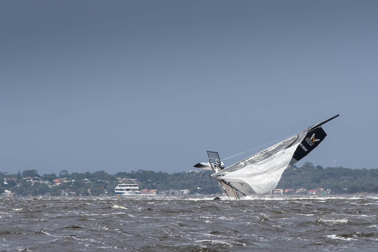 Capsize on the Swan. Photo Lloyd Images.