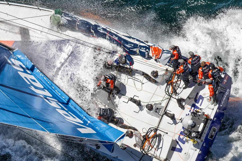Team Vestas Wind in the last edition of the Vovlo. Photo Ainhoa Sanchez/Volvo Ocean Race.