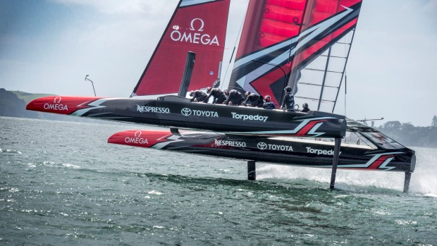 Helmsman Peter Burling and his Team New Zealand crew are riding high as the countdown to the America's Cup gathers pace. Photo Hamish Hooper/ETNZ.