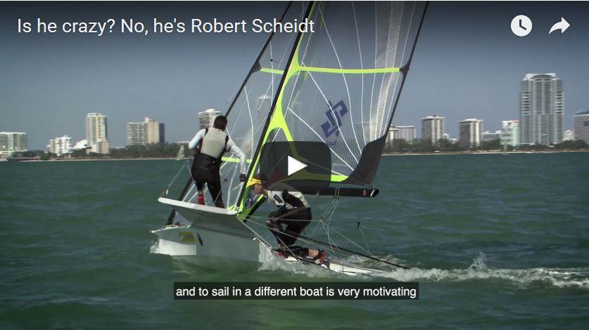 Screenshot from the Scheidt 49er video.