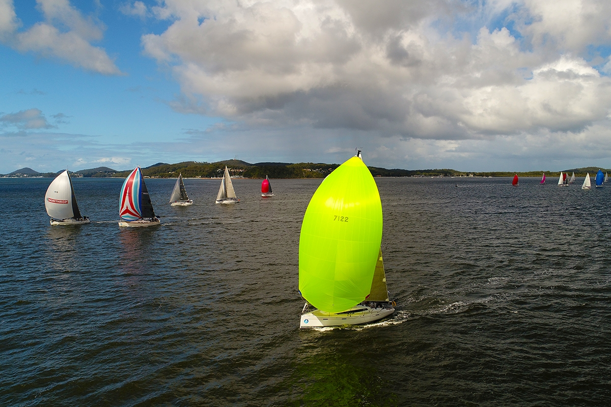 Final Commodore's Cup Race 2017. Image credit Hover UAV.