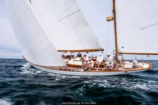 Dorade sailing in Maine last summer. (Photo Credit: Cory Silken)
