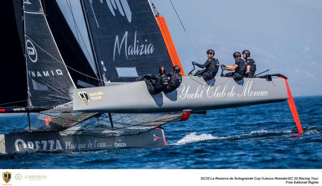 Pierre Casiraghi at the helm of Malizia - Yacht Club de Monaco. Photo ©: Jesus Renedo / GC32 Racing Tour.