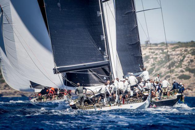 Maxi72 Class Fleet. Photo Maria Muina/Sail Racing PalmaVela.