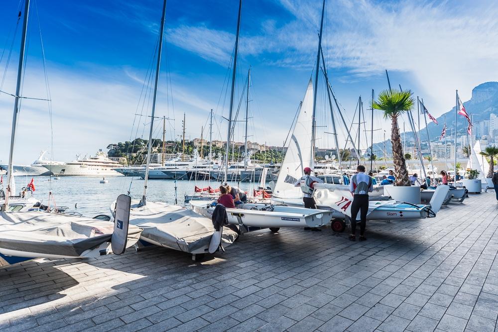 Boatpark at Yacht Club de Monaco.