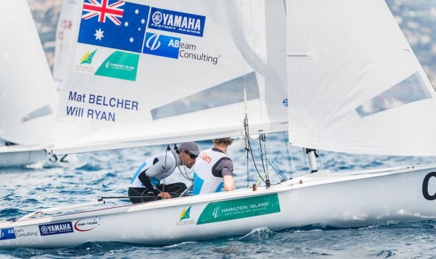Belcher and Ryan at the 2017 470 Europeans. Photo @YCM/mesi.