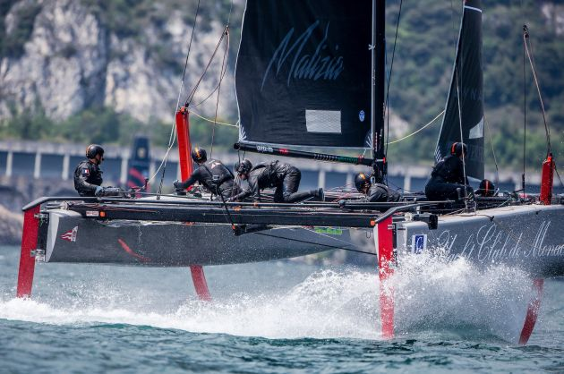 Pierre Casiraghi's Malizia - Yacht Club Monaco at speed. Photo ©: Jesus Renedo / GC32 Racing Tour.