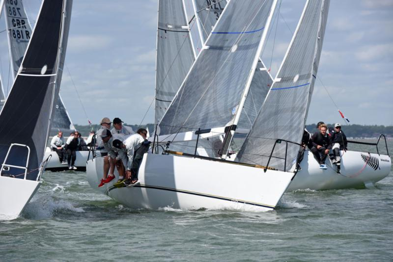 Aguila leads to claim the win in the Quarter Ton Fleet - copyright Rick Tomlinson