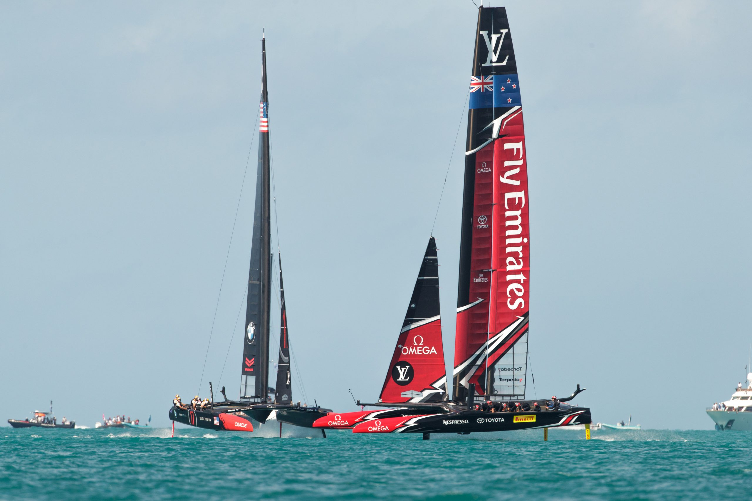 Race time for Emirates-Team-NZ-in-Bermuda---ETNZ-pic