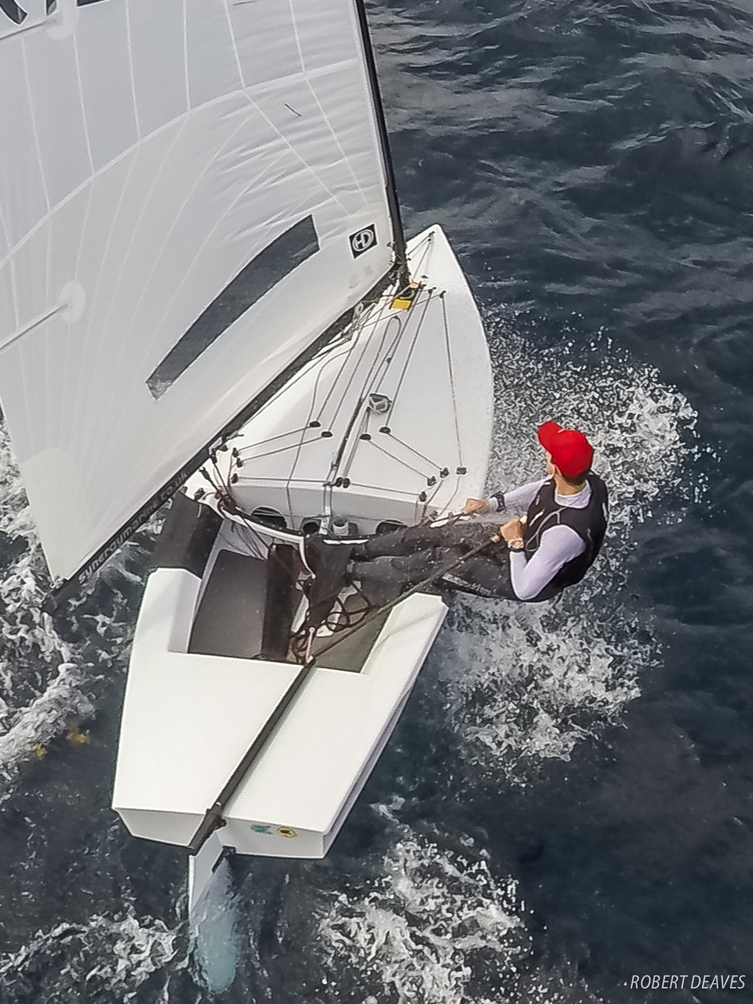 Nick Craig at the OK Dinghy Worlds in Barbados. Photo Alistair Deaves.