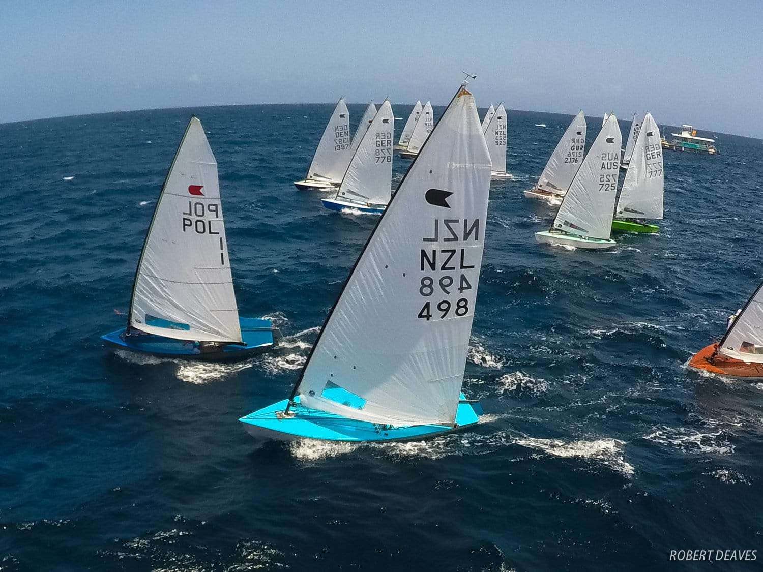 OK Dinghy Worlds 2017. Photo Alistair Deaves.