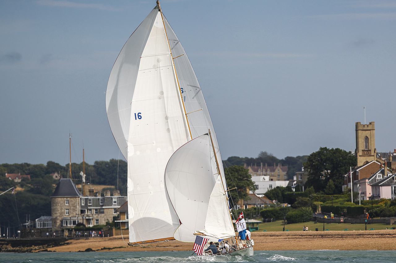 Dorade in Cowes after the 2015 Transatlantic Race. Image: Paul Wyeth.