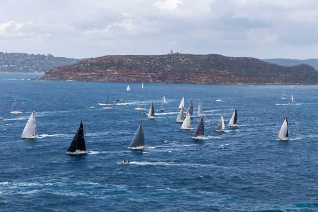 The fleet leaving Broken Bay on their way to Southport photo Andrea Francolini.