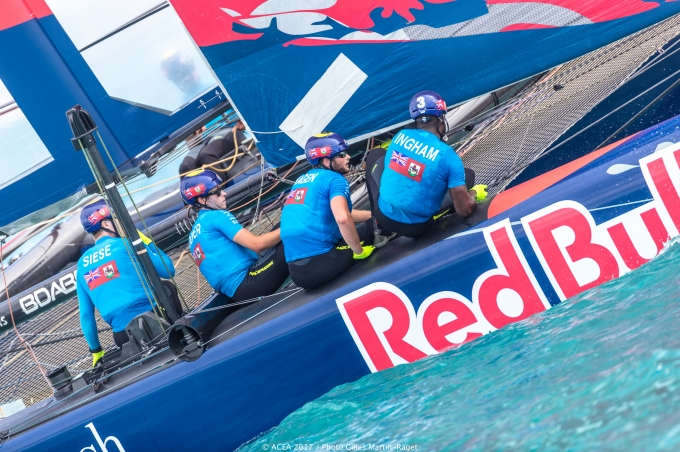 TeamBDA from Bermuda in the Youth America's Cup. Photo Gilles Martin-Raget /ACEA.