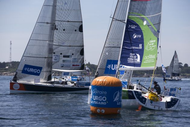 Start of the fourth stage of La Solitaire Urgo Le Figaro. Photo © Alexis Courcoux