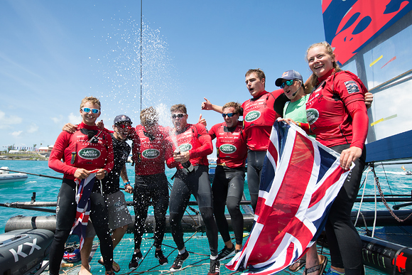 Land Rover BAR Academy crowned Red Bull Youth America's Cup Champions - pictured with Red Bull's Roman Hagara.