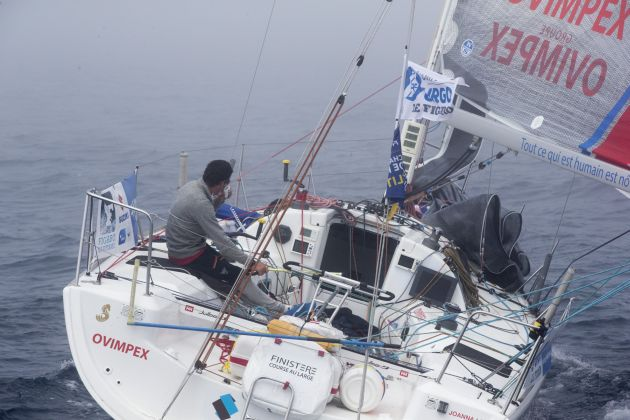 Anthony Marchand (Ovimpex-Secours Populaire) in the fourth leg of la Solitaire Urgo Le Figaro. Photo © Alexis Courcoux.