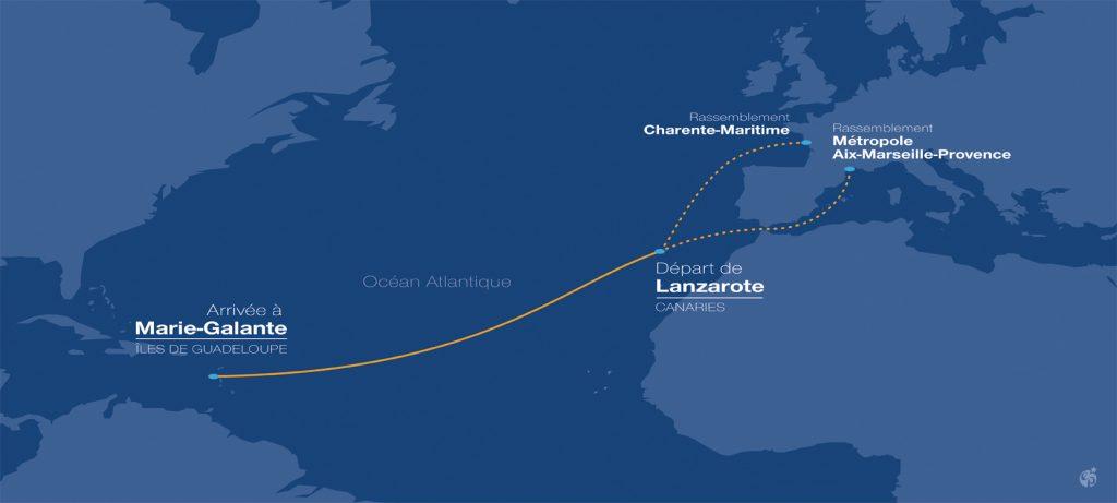 Rallye des Iles du Soleil course map.