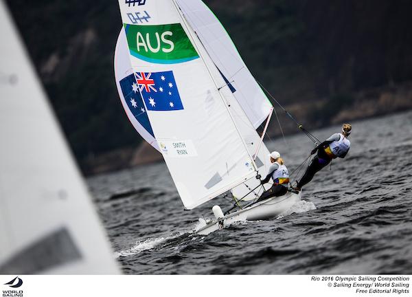 Carrie Smith and Jaime Ryan at Rio 2016. Photo Sailing Energy/World Sailing.