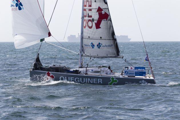 Yann Elies (Queguiner-Leucemie Espoir) during the fourth stage of la Solitaire Urgo Le Figaro. Photo - © Alexis Courcoux