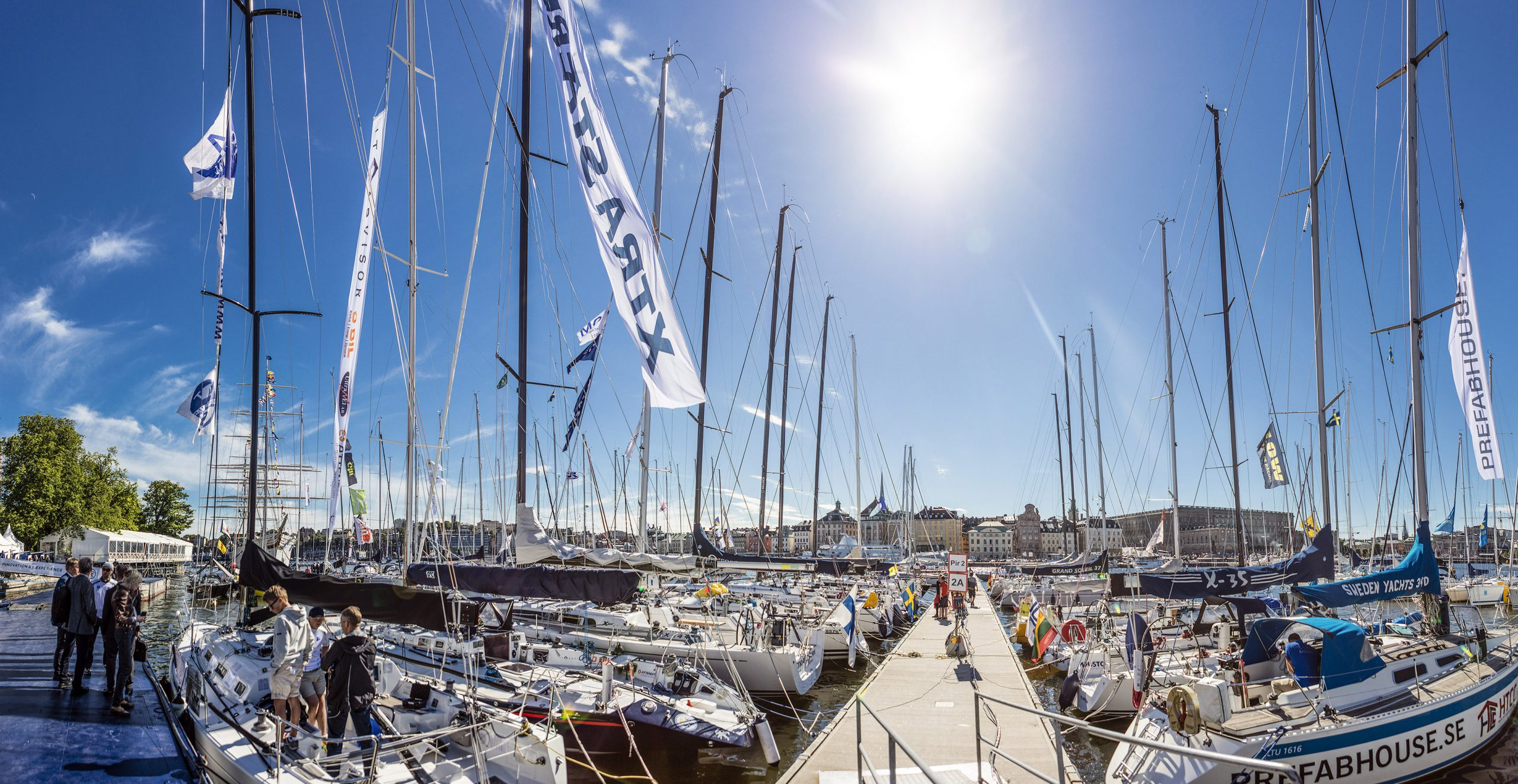 Competitors gather for the Round Gotland - ÅF Offshore Race 2017.