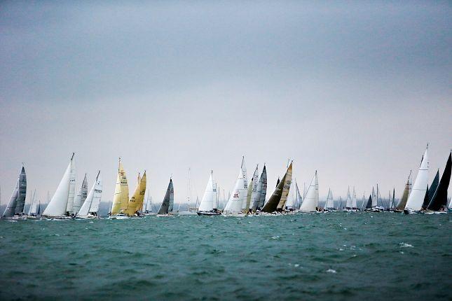Round the Island Race start. Photo Copyright Paul Wyeth.