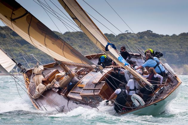 Wild conditions on the Solent. Photo Guido Cantini/Panerai