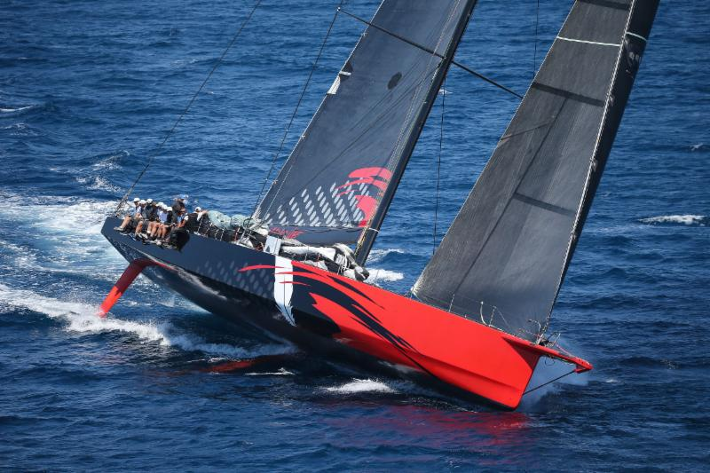 Comanche was off to a fast start on Thursday and is closing in now on the race record - photo Sharon Green/Ultimate Sailing.