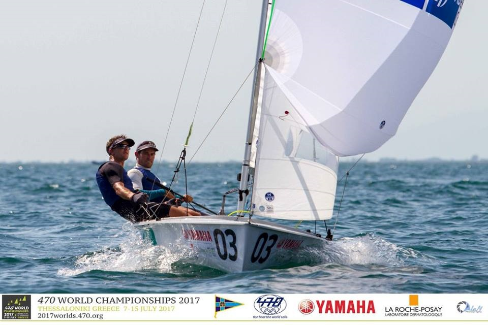 Belcher and Ryan on Day Two of the 470 Worlds.