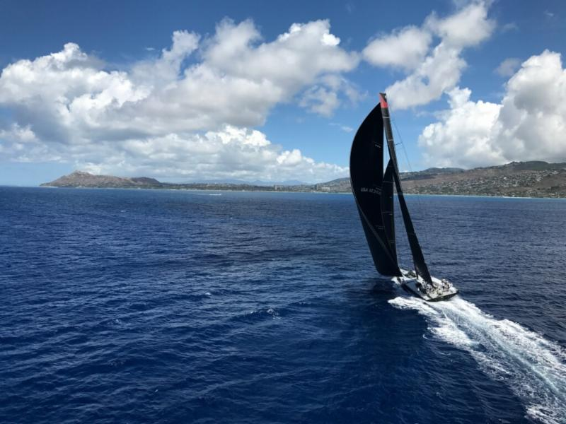 Comanche en route to the finish at Diamond Head - photo Sharon Green/Ultimate Sailing.