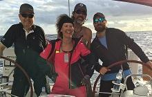 A happy crew on Tropic Thunder. Photo by yacht's crew.