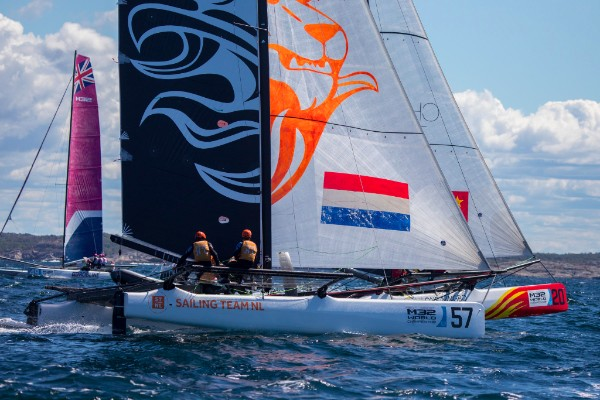 P.J. Postma and Sailing Team NL sail brilliantly on day one at the M32 Worlds. Photo © Anton Klock / M32 World