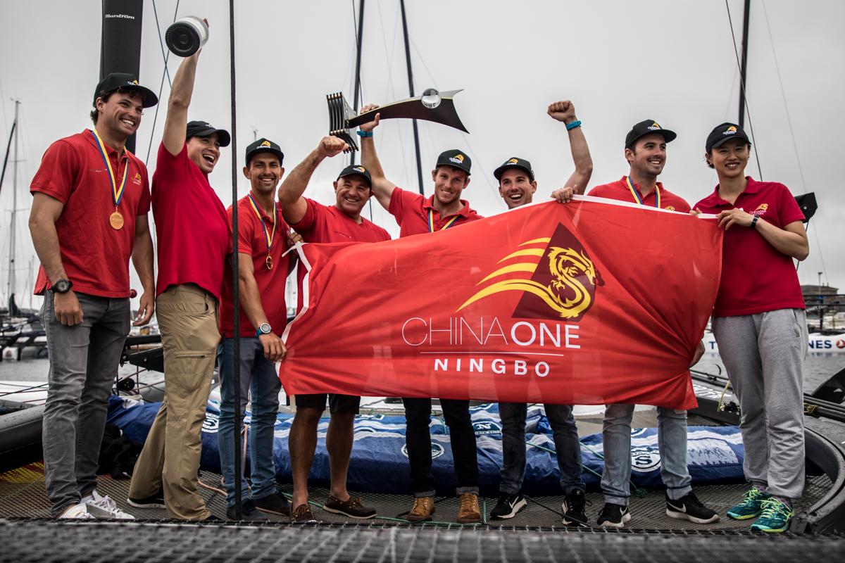 Phil Robertson and the crew of ChinaOne Ningbo. Photo Aston Harald.