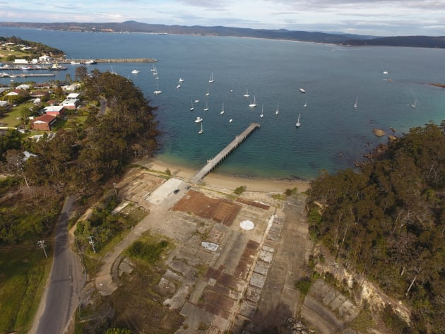 The proposed marina development site at Cattle Bay. Photo BIA.