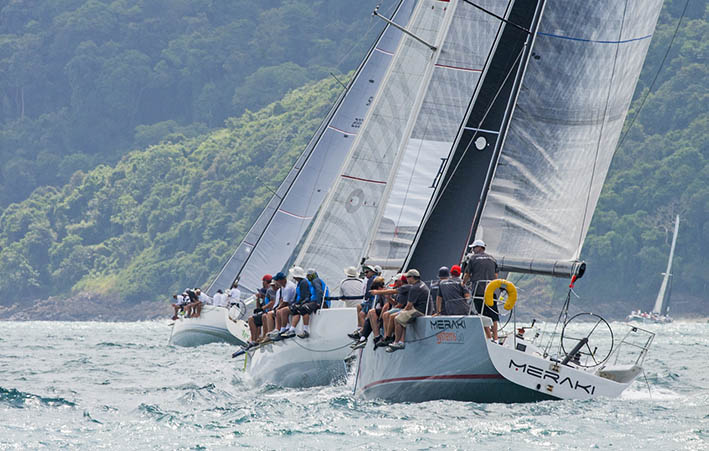 Racing was close on Day 1 of the 2017 Cape Panwa Hotel Phuket Raceweek. Photo by Guy Nowell.