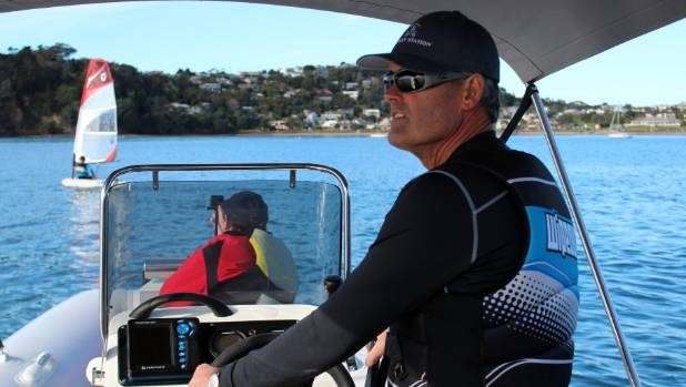 Sir Russell Coutts coaches young Kiwi sailors last year. Photo STUFF/JAY BOREHAM.