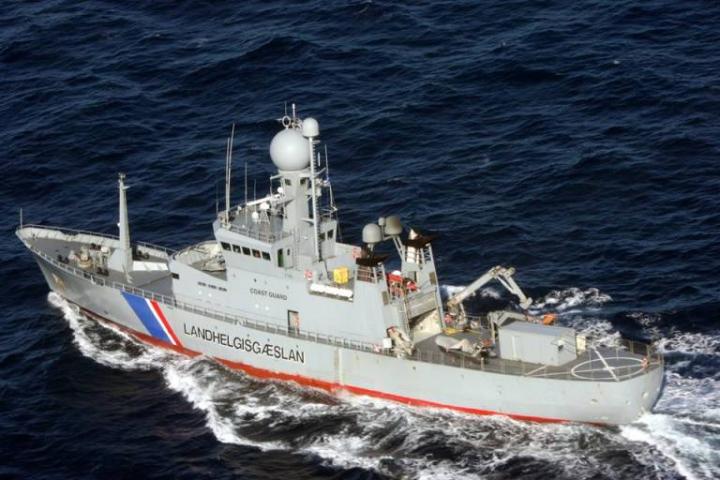 An Icelandic coast guard ship. Photo: Icelandic Coast Guard.