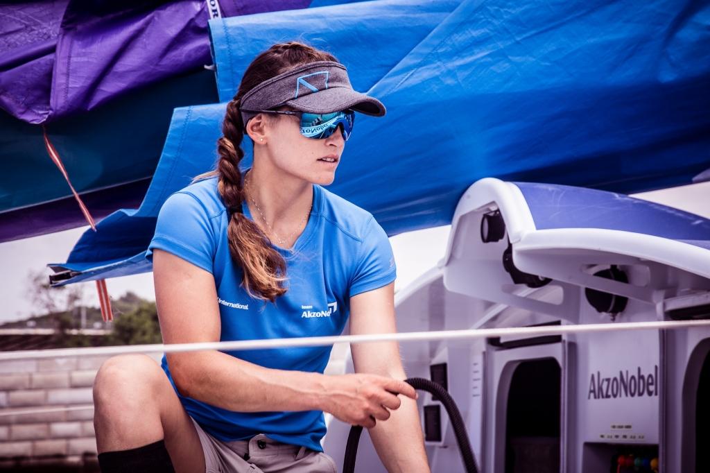 Martine Grael. Photo Amalia Infante/Volvo Ocean Race.