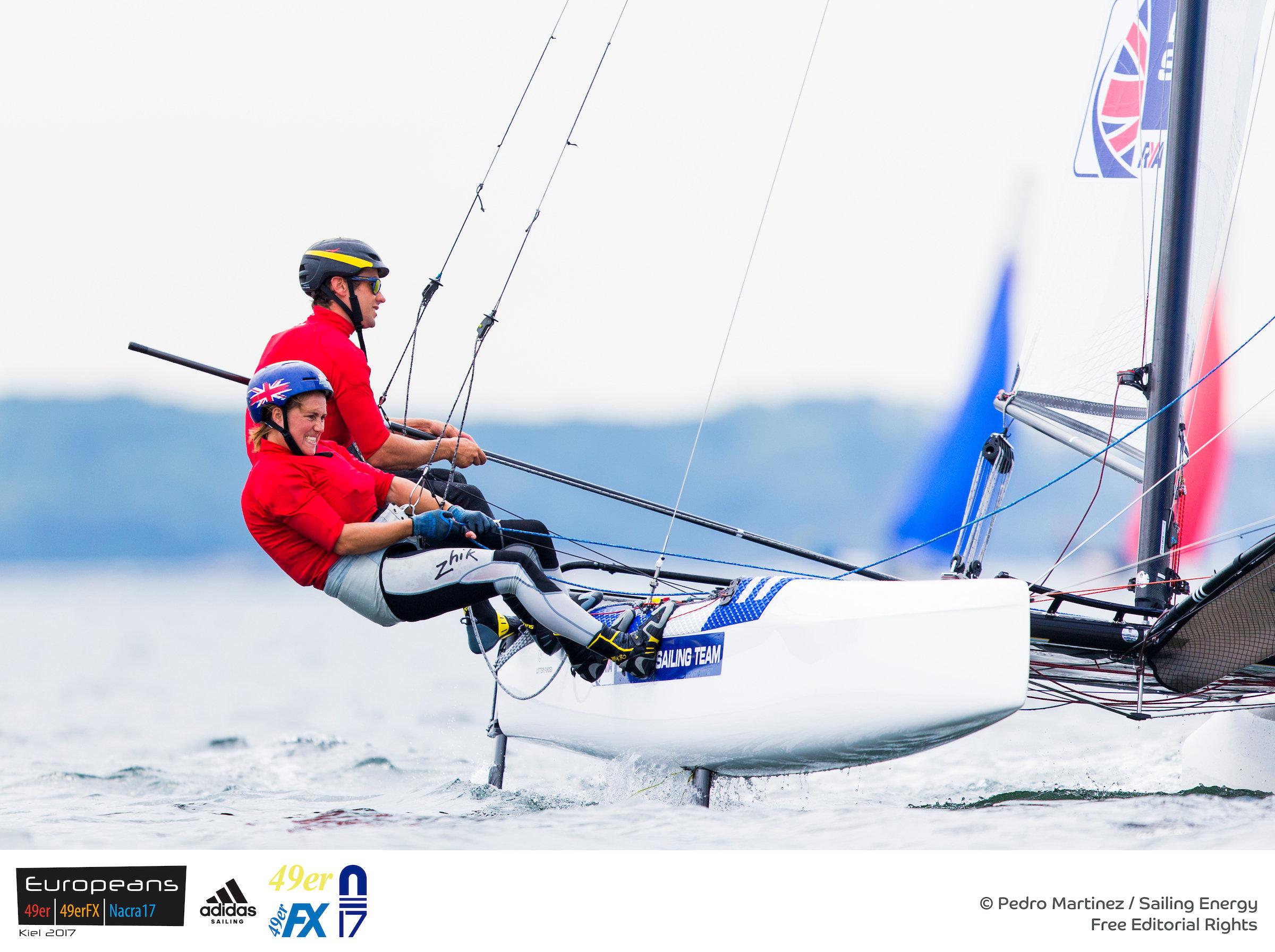 Nacra Europeans 2017. Photo Pedro Martinez/Sailing Energy.