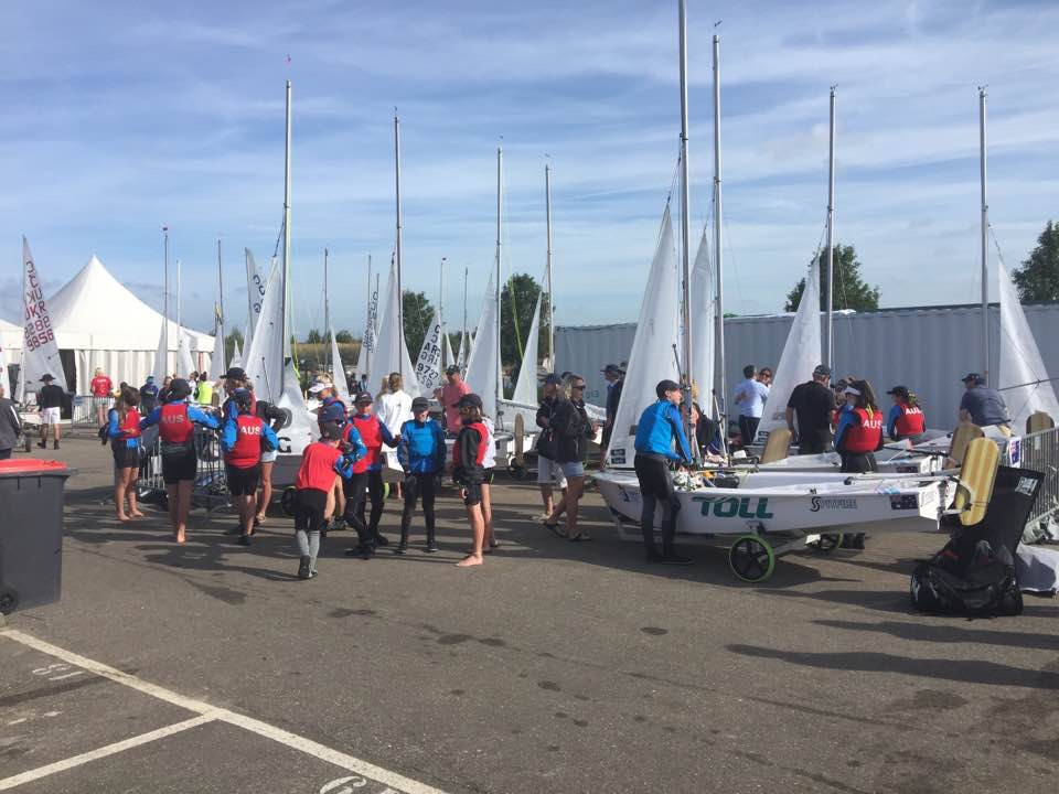 The Aussies in the boat park. Photo Tony Bull.
