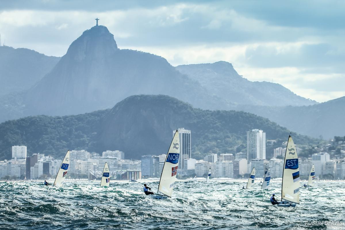 Extreme Finn sailing at the Rio Olympics. Photo Robert Deaves.