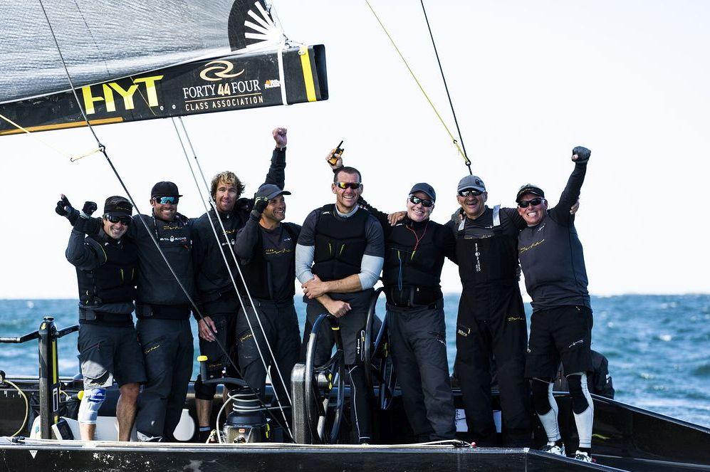 Team Nika celebrates victory. Photo © Pedro Martinez / Martinez Studio.