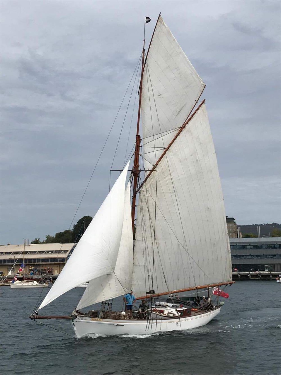Tim Phillips' Muriel in Hobart for the Wooden Boat Festival 17_owner supplied.