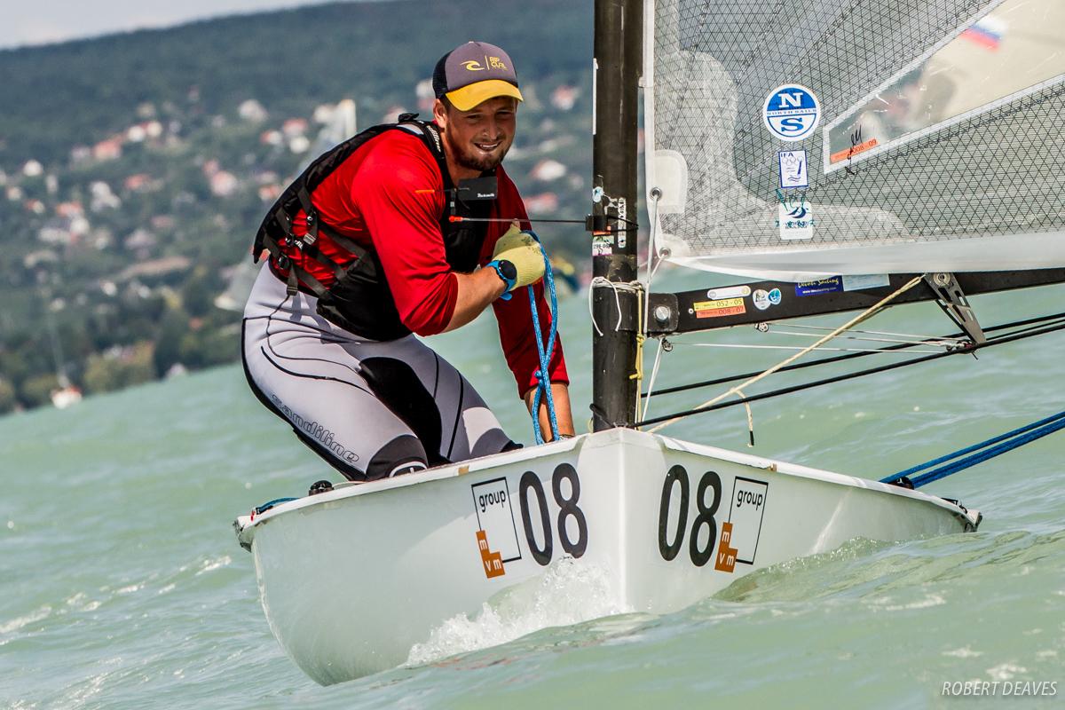 Facundo Olezza at the Finn Silver Cup. Photo Robert Deaves.