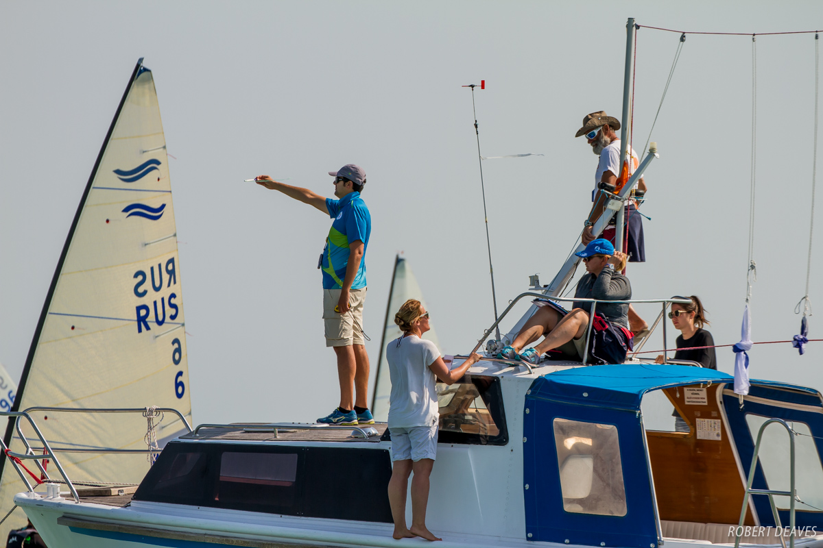 Looking for wind at the Finn Silver Cup. Photo Robert Deaves.