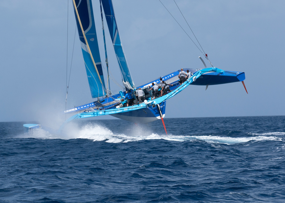 Perfect conditions for Tony Lawson's MOD70