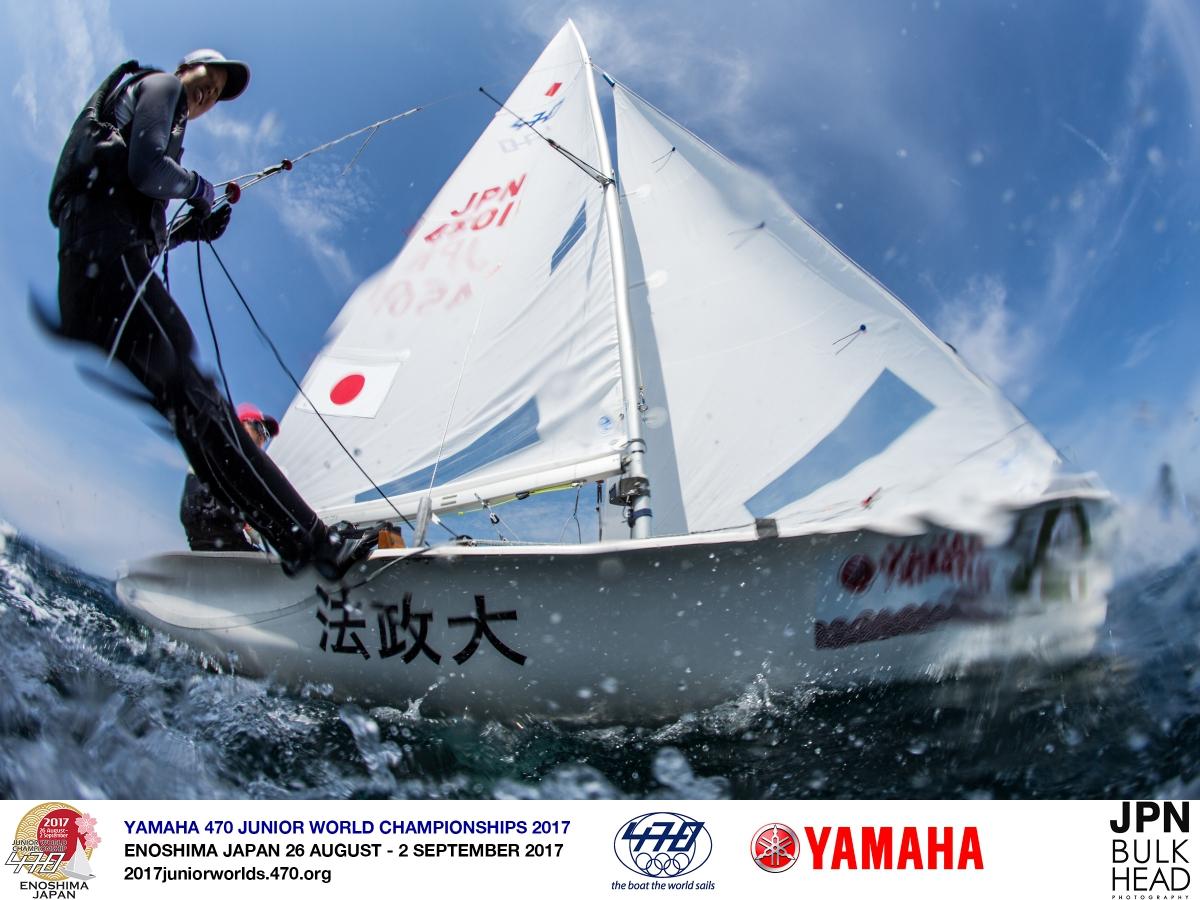 Daichi Takayama/Naoya Kimura (JPN-4601) at the 470 Junior Worlds. Photo Junichi Hirai.