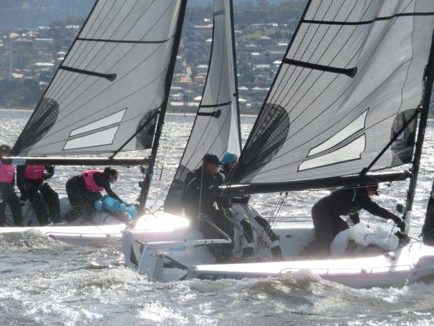 Derwent Sailing Club winter series. Photo Michelle Denney.